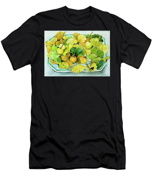 Ginkgo, Fruit And Leaves Men's T-Shirt (Athletic Fit)