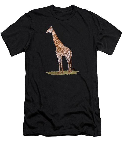 Men's T-Shirt (Athletic Fit) featuring the painting Giraffe by Angeles M Pomata