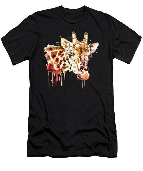 Giraffe Head Men's T-Shirt (Athletic Fit)