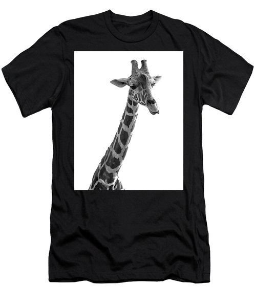 Giraffe In Black And White 3 Men's T-Shirt (Athletic Fit)
