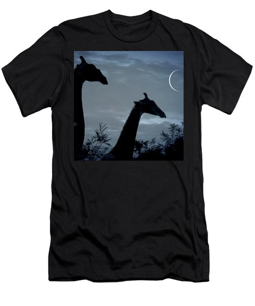 Giraffe Moon  Men's T-Shirt (Athletic Fit)
