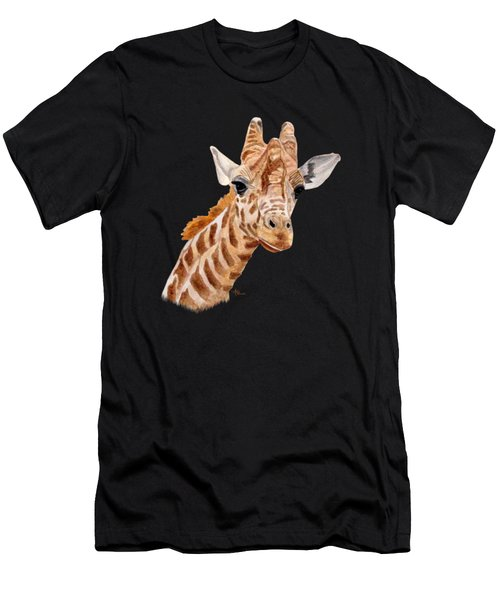Giraffe Portrait Men's T-Shirt (Athletic Fit)