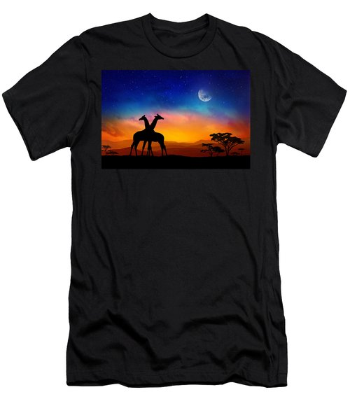 Giraffes Can Dance Men's T-Shirt (Athletic Fit)