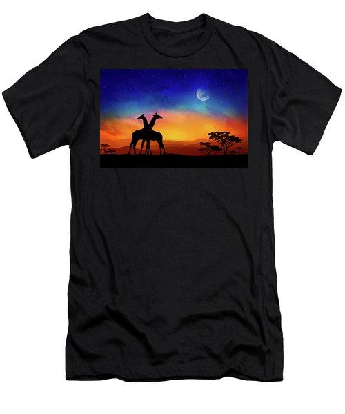 Giraffes Can Dance Men's T-Shirt (Athletic Fit)
