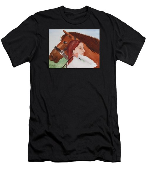 Girl And Her Horse Men's T-Shirt (Athletic Fit)