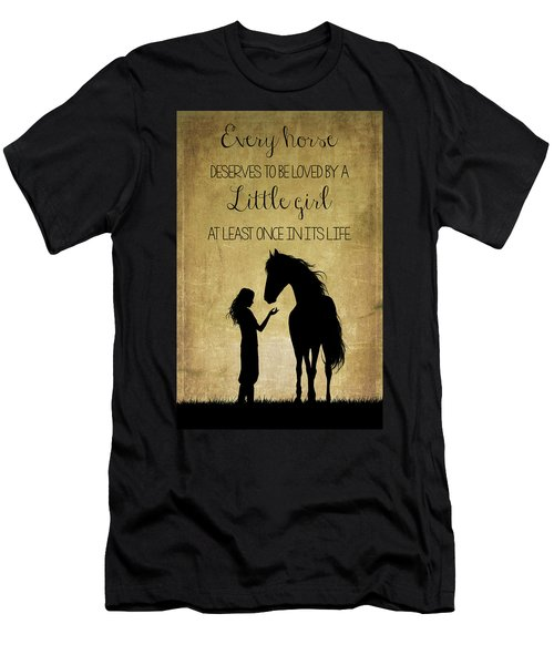 Girl And Horse Silhouette Men's T-Shirt (Athletic Fit)