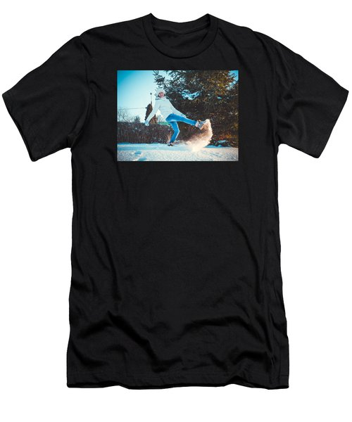 Girl And Snow Men's T-Shirt (Athletic Fit)