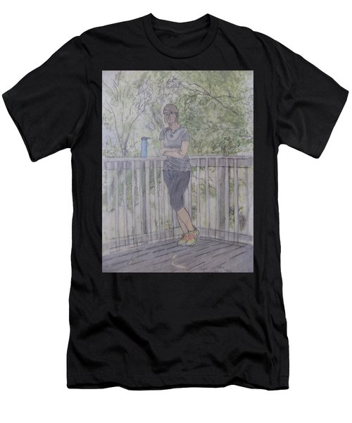 Girl At The Mountain Top Men's T-Shirt (Athletic Fit)