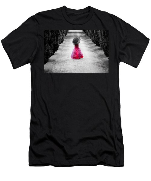 Girl In A Red Dress Men's T-Shirt (Athletic Fit)