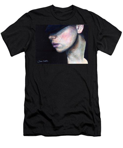 Girl In Black Hat Men's T-Shirt (Athletic Fit)
