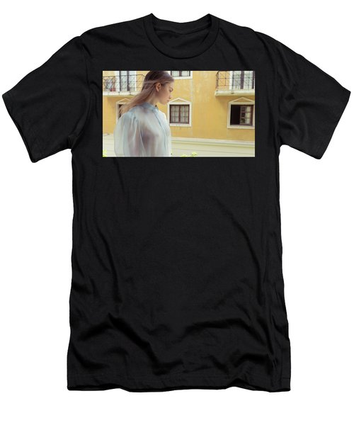 Men's T-Shirt (Athletic Fit) featuring the photograph Girl In Profile by Michael Maximillian Hermansen