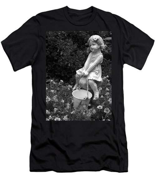 Men's T-Shirt (Slim Fit) featuring the photograph Girl On A Mushroom by Sandi OReilly