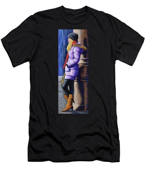 Girl Waiting Men's T-Shirt (Athletic Fit)
