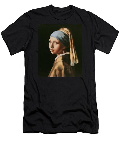 Girl With A Pearl Earring - After Vermeer Men's T-Shirt (Athletic Fit)