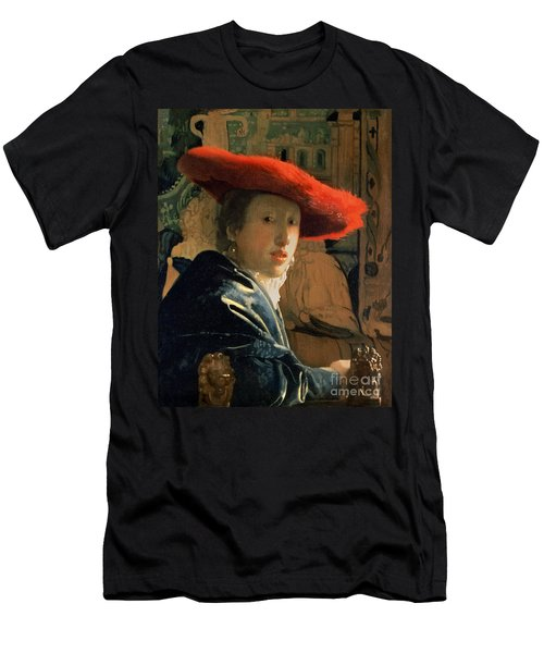 Girl With A Red Hat Men's T-Shirt (Athletic Fit)