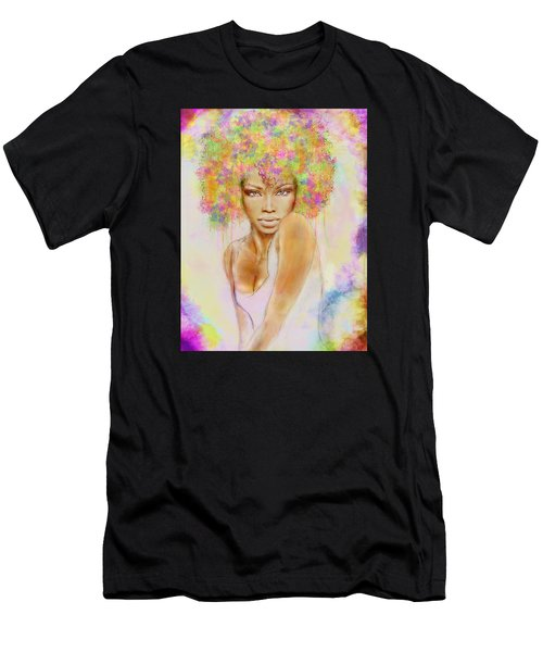 Girl With New Hair Style Men's T-Shirt (Athletic Fit)