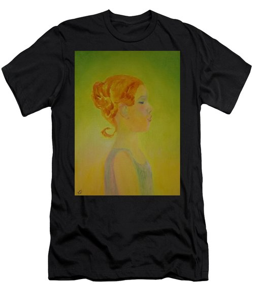 The Girl With The Curl Men's T-Shirt (Athletic Fit)
