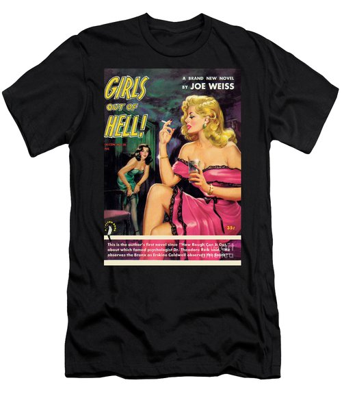 Girls Out Of Hell Men's T-Shirt (Slim Fit) by George Gross