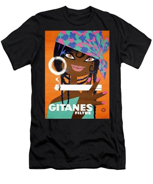 Gitanes Filtre Cigarette Ad France Men's T-Shirt (Athletic Fit)
