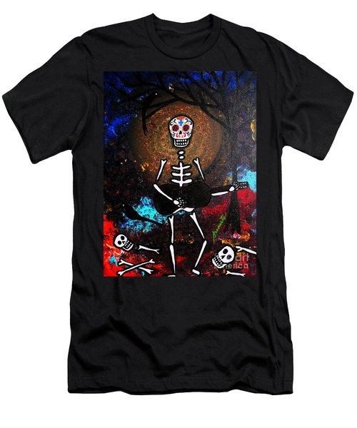 Men's T-Shirt (Slim Fit) featuring the painting Gitarero by Pristine Cartera Turkus