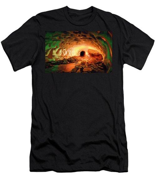 Glacier Caves Men's T-Shirt (Athletic Fit)