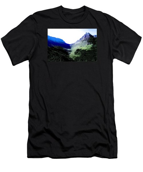 Glacier Park Simplified Men's T-Shirt (Slim Fit) by Susan Crossman Buscho