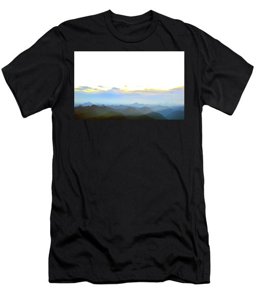 Glacier Peak At Sunrise Men's T-Shirt (Athletic Fit)
