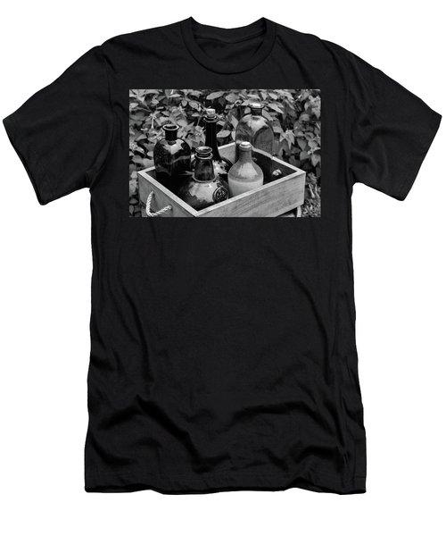 Glass Bottles In The Garden Men's T-Shirt (Athletic Fit)