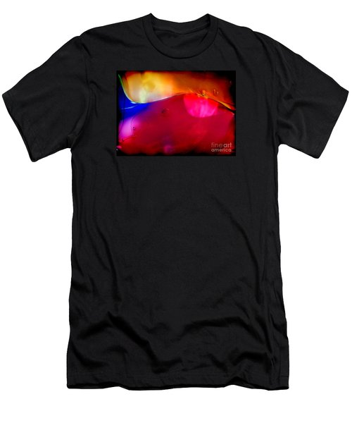 Glass Paint Abstract Dark Men's T-Shirt (Athletic Fit)