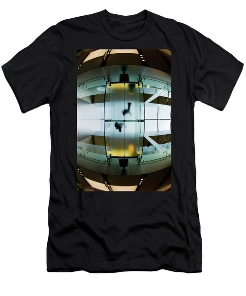 Glass Walkway Apple Store Stockton Street San Francisco Men's T-Shirt (Athletic Fit)