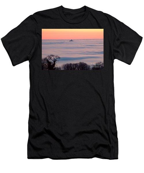 Glastonbury Tor Above The Fog Men's T-Shirt (Athletic Fit)