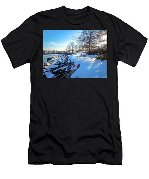 Glen Island Snowfall Men's T-Shirt (Athletic Fit)