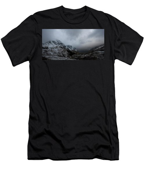 Men's T-Shirt (Slim Fit) featuring the digital art Glencoe - Three Sisters by Pat Speirs