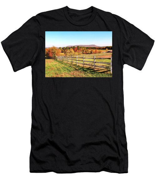 Glendale Road View In The Fall Men's T-Shirt (Athletic Fit)