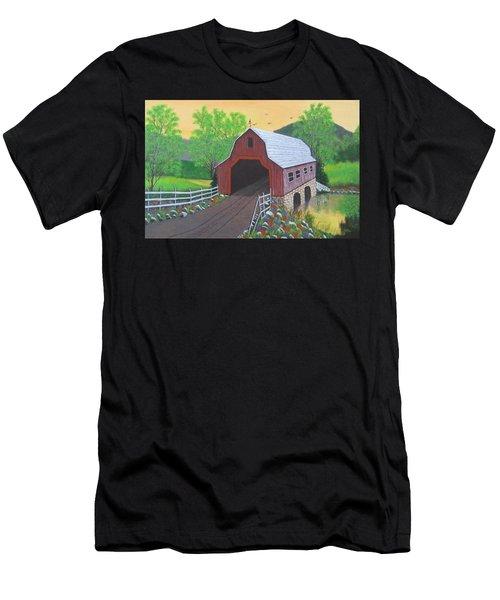Glenda's Covered Bridge Men's T-Shirt (Athletic Fit)