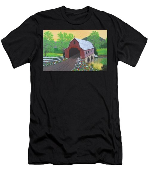 Glenda's Covered Bridge Men's T-Shirt (Athletic Fit)