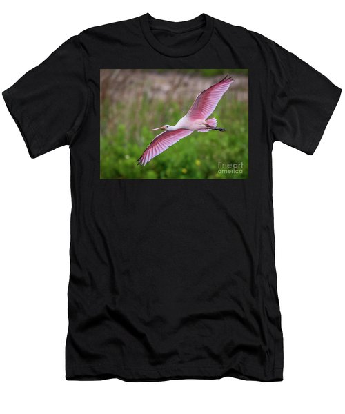 Gliding Spoonbill Men's T-Shirt (Athletic Fit)
