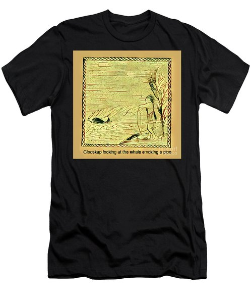 Glooscap Watching The Smoking Whale Men's T-Shirt (Athletic Fit)