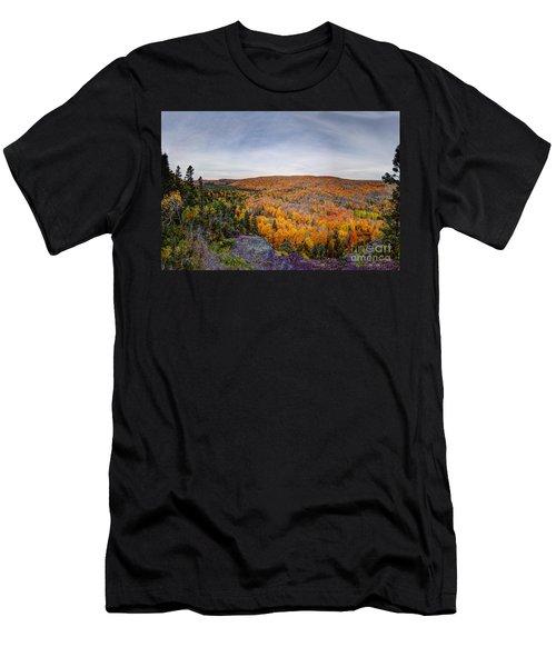 Glorious Autumn Lutsen Mountain Resort North Shore Minnesota Men's T-Shirt (Athletic Fit)