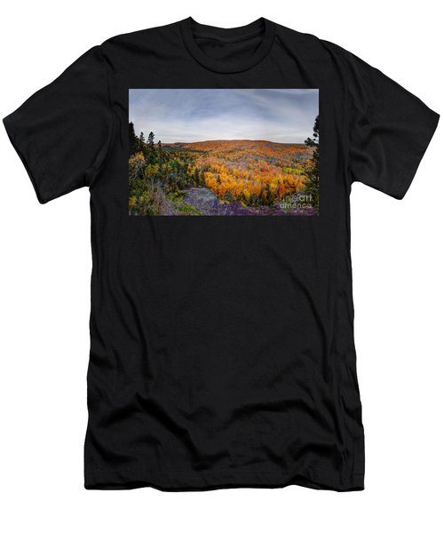 Glorious Autumn Lutsen Mountain Resort North Shore Minnesota Men's T-Shirt (Athletic Fit)