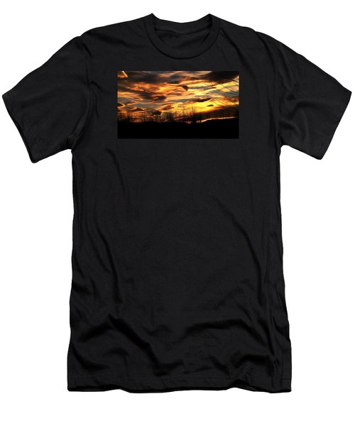 Men's T-Shirt (Slim Fit) featuring the photograph Glorious Maine Sunset by Mike Breau