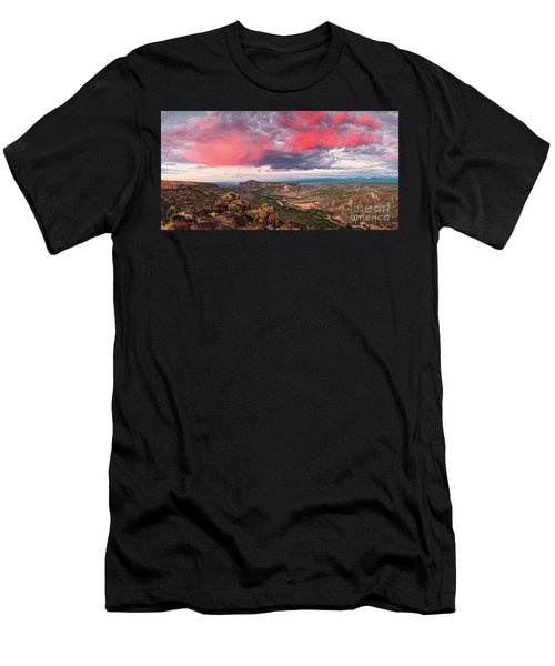 Glorious View Of Rio Grande, Sangre De Cristo And Black Mesa From White Rock Overlook - New Mexico Men's T-Shirt (Athletic Fit)
