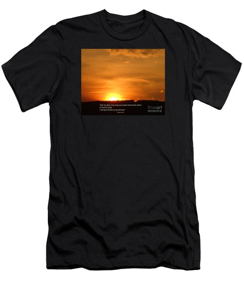 Men's T-Shirt (Slim Fit) featuring the photograph Glory And Thanks  by Christina Verdgeline