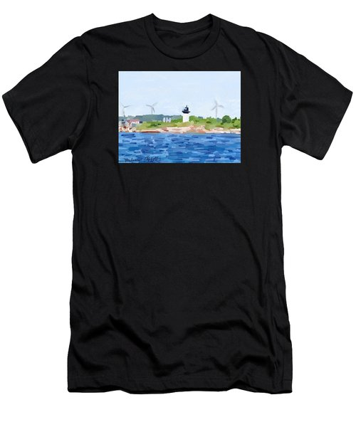 Gloucester Ma Skyline From Harbor Men's T-Shirt (Athletic Fit)