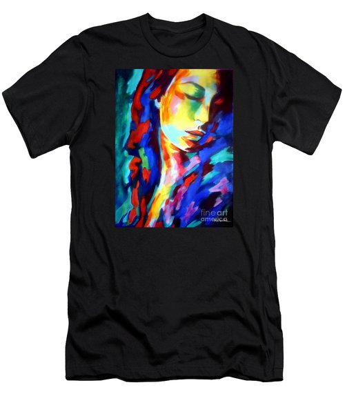 Glow In Shadows Men's T-Shirt (Slim Fit) by Helena Wierzbicki