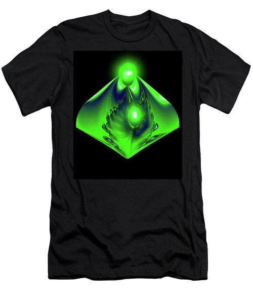 Men's T-Shirt (Slim Fit) featuring the mixed media Glow by Kevin Caudill