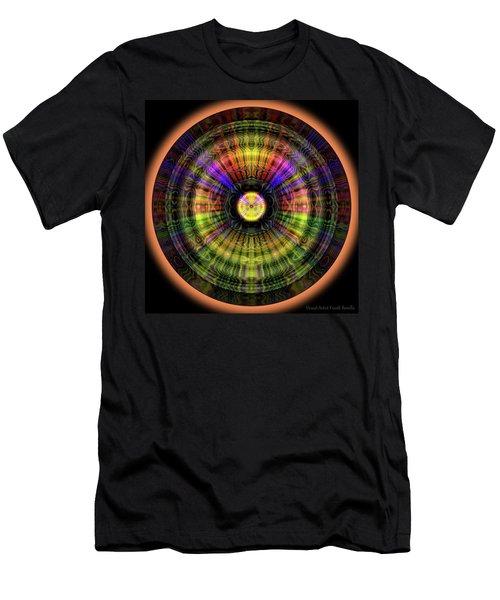Men's T-Shirt (Athletic Fit) featuring the digital art Glow Wheel Eight by Visual Artist Frank Bonilla