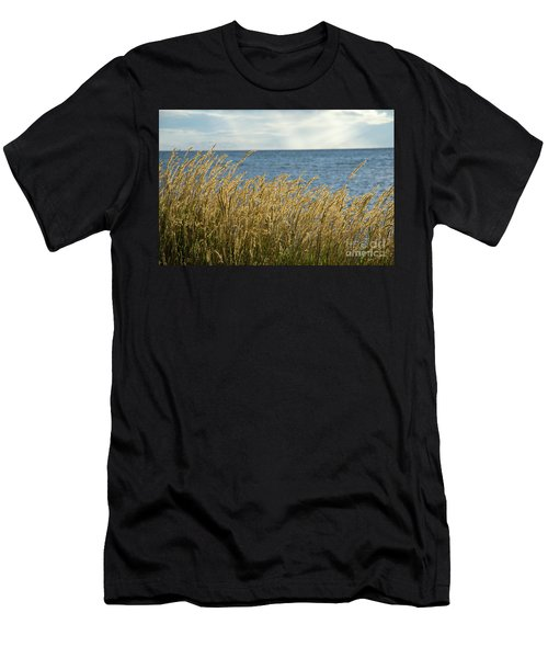 Glowing Grass By The Coast Men's T-Shirt (Athletic Fit)