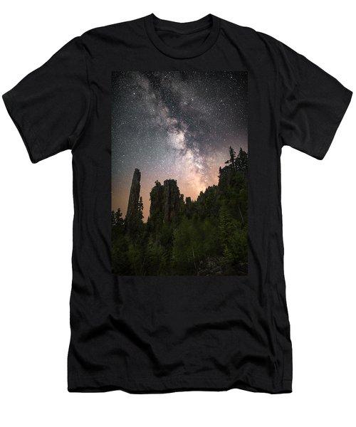 Glowing Horizon Men's T-Shirt (Athletic Fit)