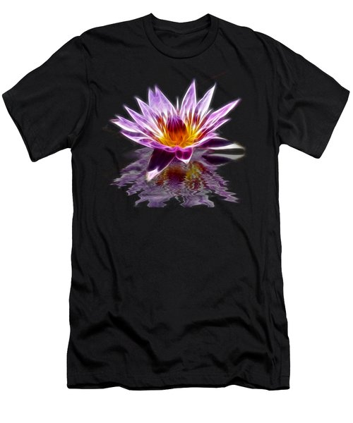 Glowing Lilly Flower Men's T-Shirt (Athletic Fit)